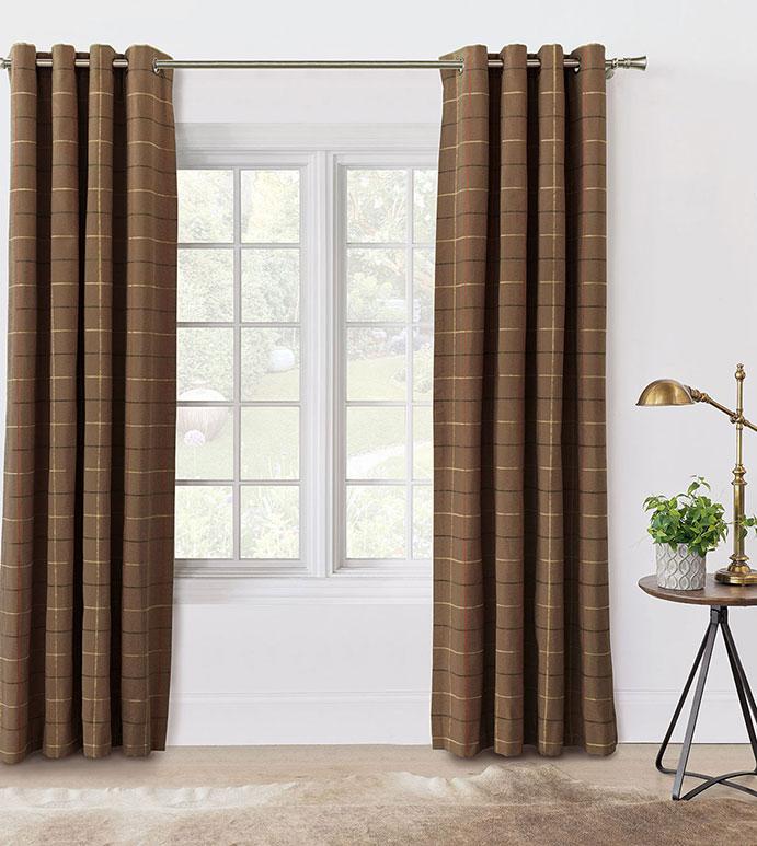 Donoghue Brown Curtain Panel