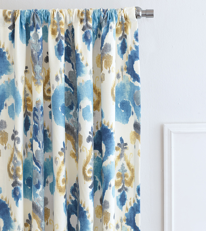 Aoki Azure Curtain Panel
