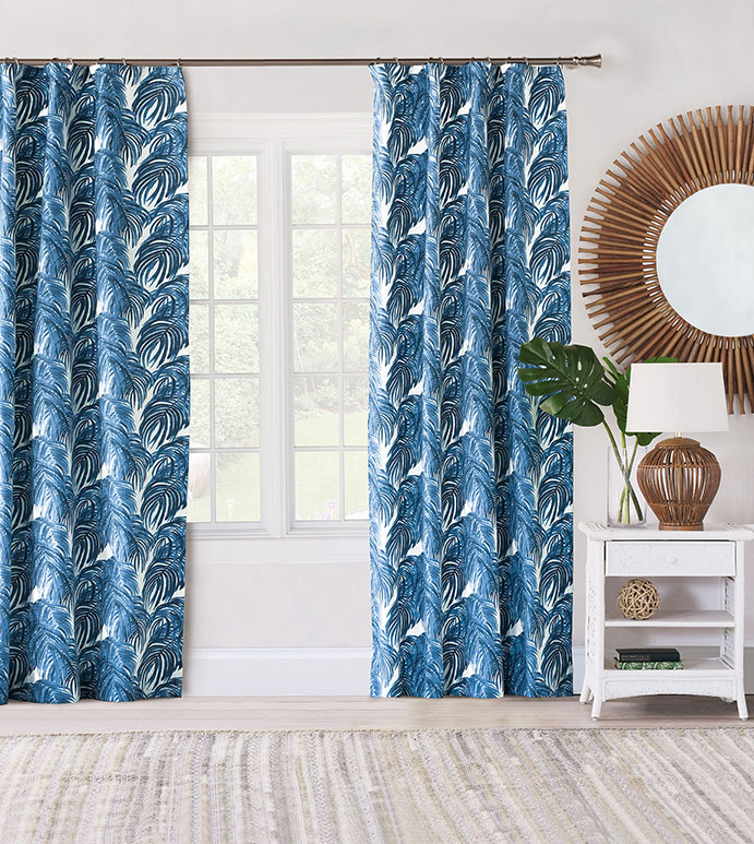 Malia Cobalt Curtain Panel