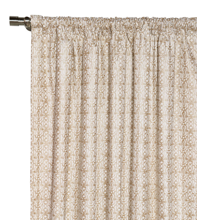 Cordova Taupe Curtain Panel