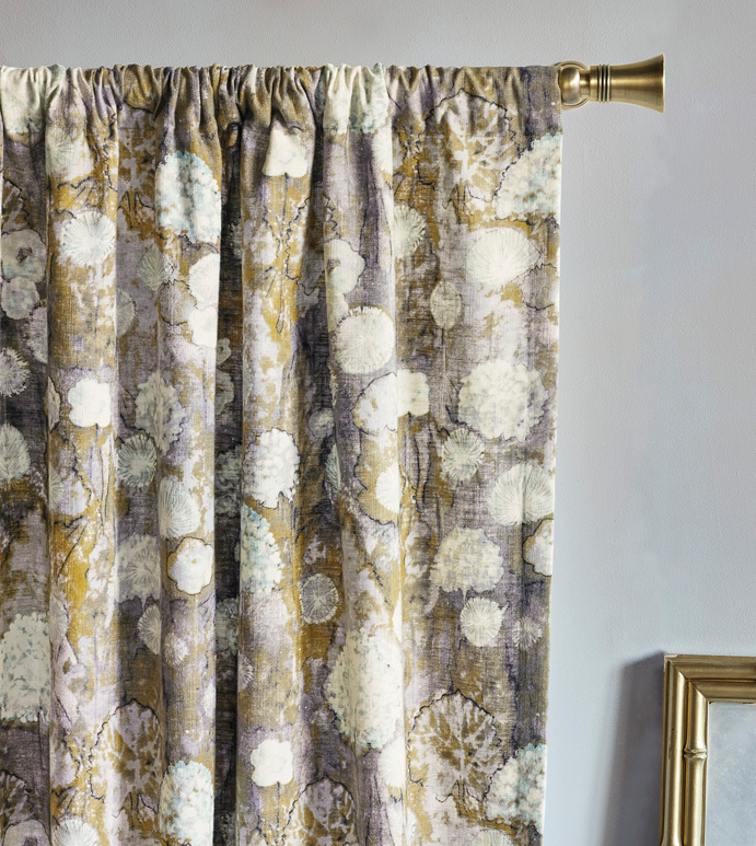 Evangeline Rod Pocket Curtain Panel In Pastel