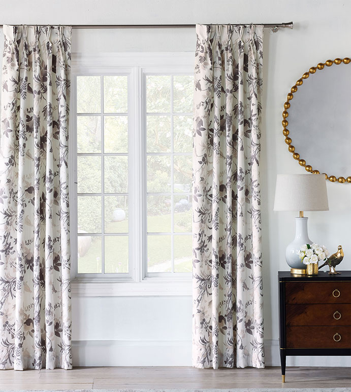 Naomi Pinch Pleated Curtain Panel In Pastel