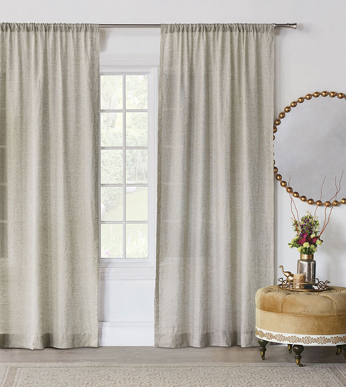 Marceau Gold Dotted Curtain Panel - ,100% LINEN,LINEN CURTAIN PANEL,CURTAIN PANEL,CURTAINS,DRAPERY, WINDOW TREATMENTS,GOLD CURTAINS,LINEN FABRIC,NEUTRAL CURTAIN PANEL,GLAM DRAPERY,METALLIC DRAPES,LINEN CURTAINS,GOLD,