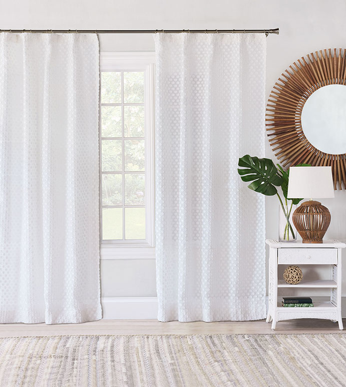 Penelope Fil Coupe Curtain Panel