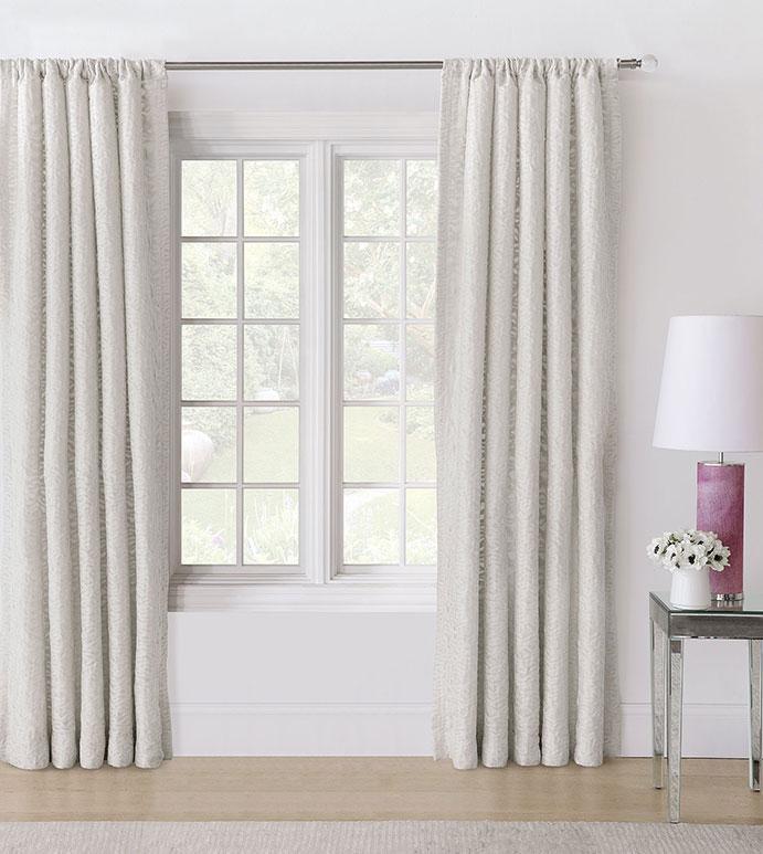 Naomi Rod Pocket Curtain Panel In Ivory