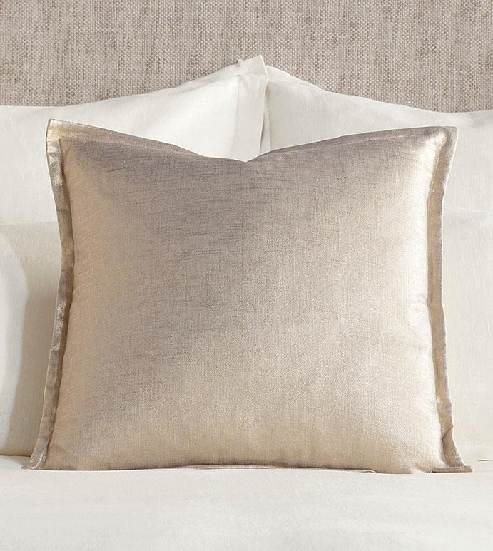 Adrienne Metallic Decorative Pillow In Gold - ,