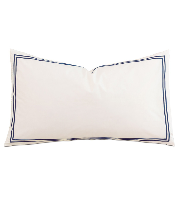 Enzo Ivory/Navy With Flange - ,