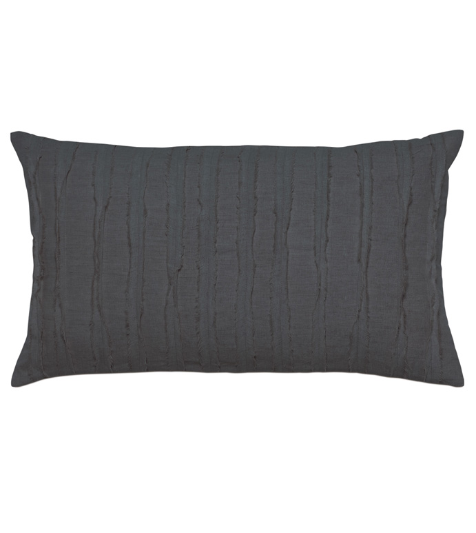Shiloh Charcoal Oblong Decorative Pillow - ,