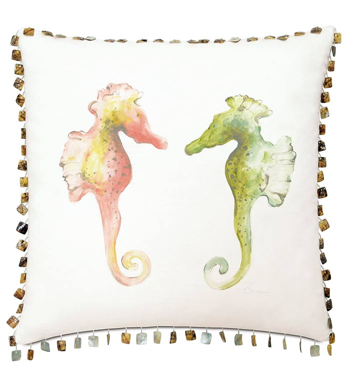 Hand-Painted Seahorses - ,