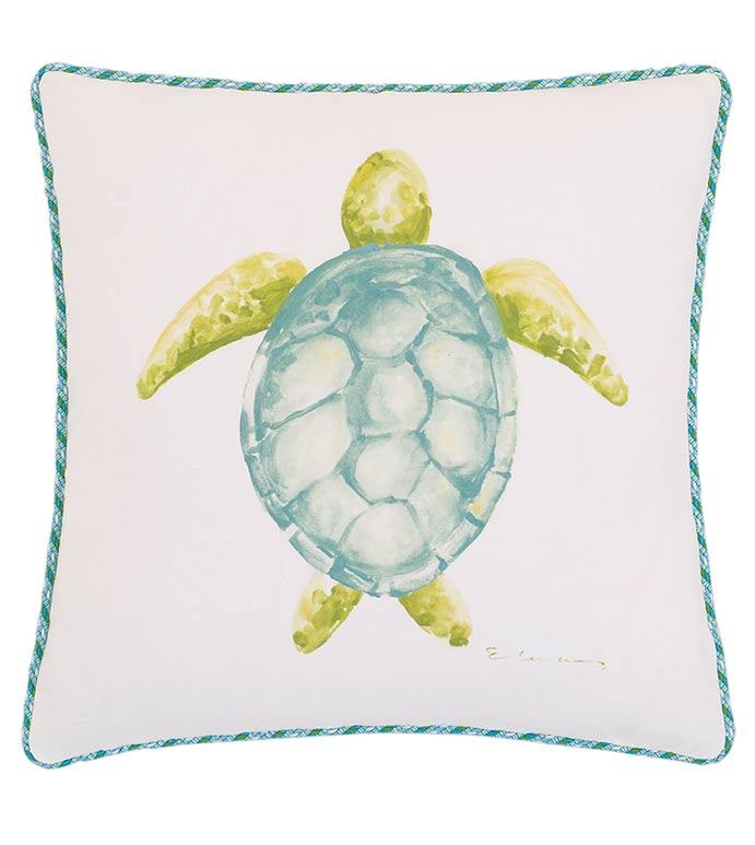 Hand-Painted Sea Turtle - ,