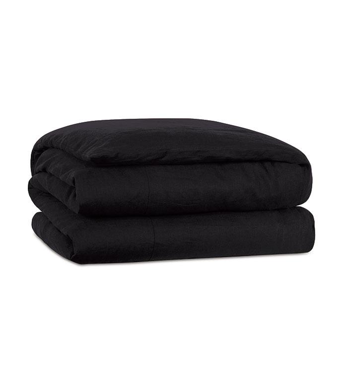 Resort Black Duvet Cover - ,