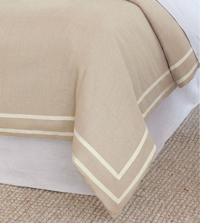 Resort Bisque Fret Duvet Cover - ,