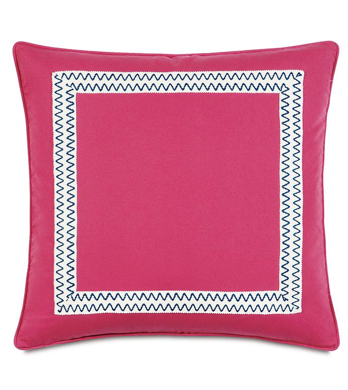 Decker Pink Euro Sham - ,