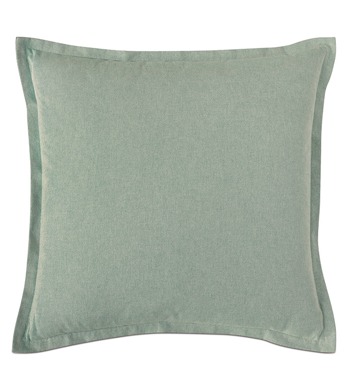 Evangeline Flange Euro Sham In Teal - ACCENT PILLOW,THROW PILLOW,EURO SHAM,NICHE BY EASTERN ACCENTS,TEAL,CONTEMPORARY,100% COTTON,SOLID,FLANGE,