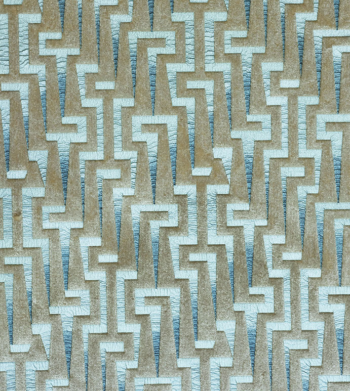 Arielle - FABRIC,UPHOLSTERY FABRIC,FABRIC BY THE YARD,FABRIC YARDAGE,GRAPHIC,MODERN,METALLIC,CONTEMPORARY,ABSTRACT,GEOMETRIC,TEXTURE,TEXTURED,SILVER,BLUE,ITALIAN,ITALY,UP THE ROLL,VELVET,