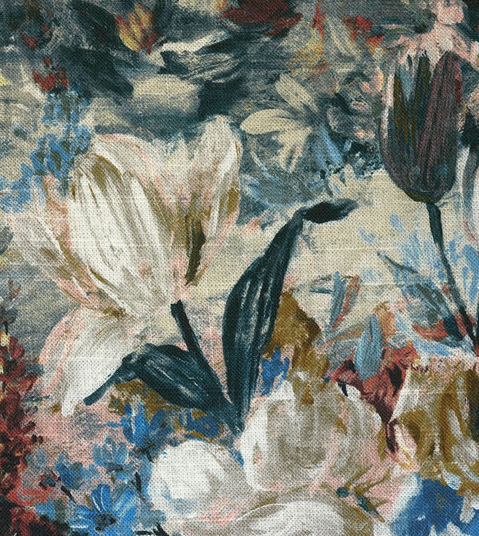 Herald Burgundy - FABRIC,FABRIC BY THE YARD,FABRIC YARDAGE,UPHOLSTERY FABRIC,UPHOLSTERY WEIGHT,UPHOLSTERY,FLORAL,FLOWERS,PAINTERLY,OIL PAINTING,DUTCH,DUTCH MASTERS,FLORAL FABRIC,FLOWER PATTERN,