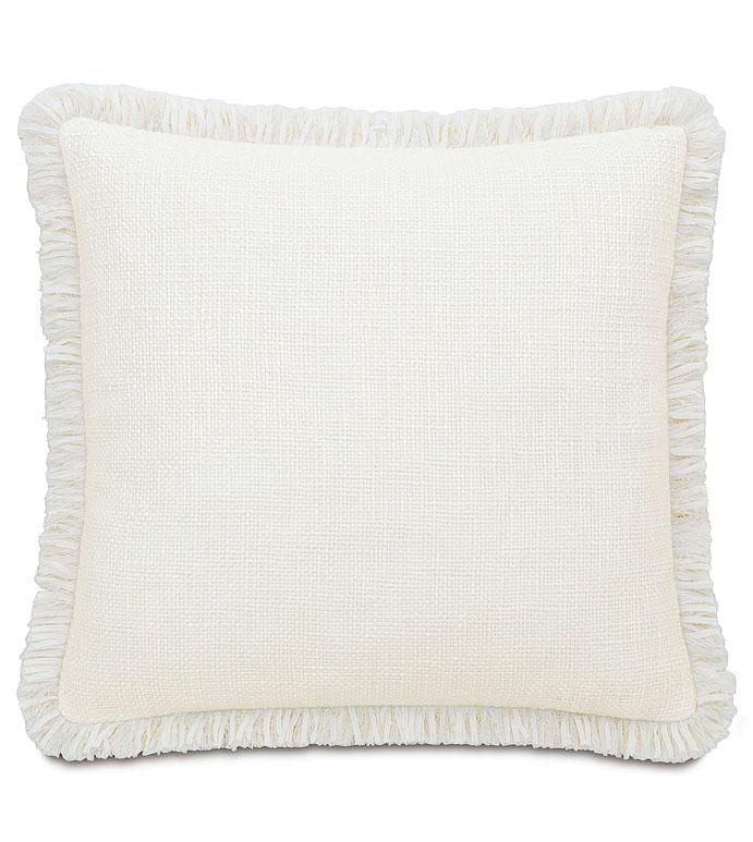 Portage White With Brush Fringe - ,