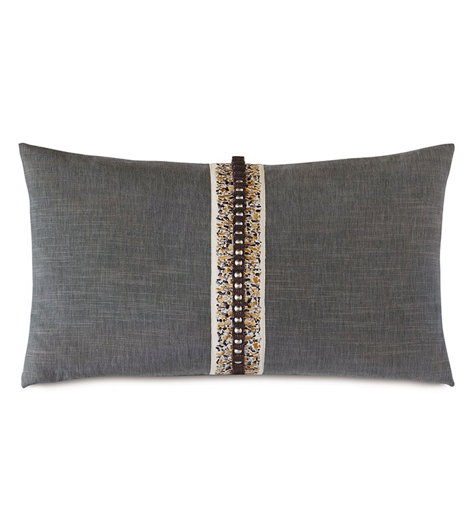 Indochine Pleated Trim Decorative Pillow