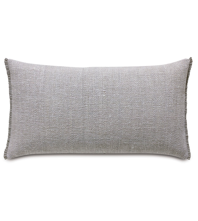 Naomi Solid King Sham In Lilac - ACCENT PILLOW,THROW PILLOW,KING SHAM,EASTERN ACCENTS,LILAC,GLAM,TEXTURED,SOLID,RIBBON,