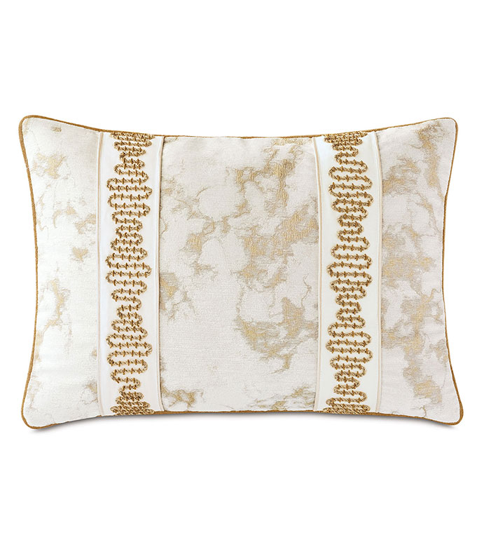 Marceau Metallic Marble Decorative Pillow - ,RECTANGLE PILLOW,DECORATIVE PILLOW,RECTANGLE THROW PILLOW,GOLD PILLOW,CHENILLE,METALLIC CHENILLE,GOLD CHENILLE,CHENILLE PILLOW,GOLD PILLOW,SMALL PILLOW,METALLIC PILLOW,MARBLE,WAVY