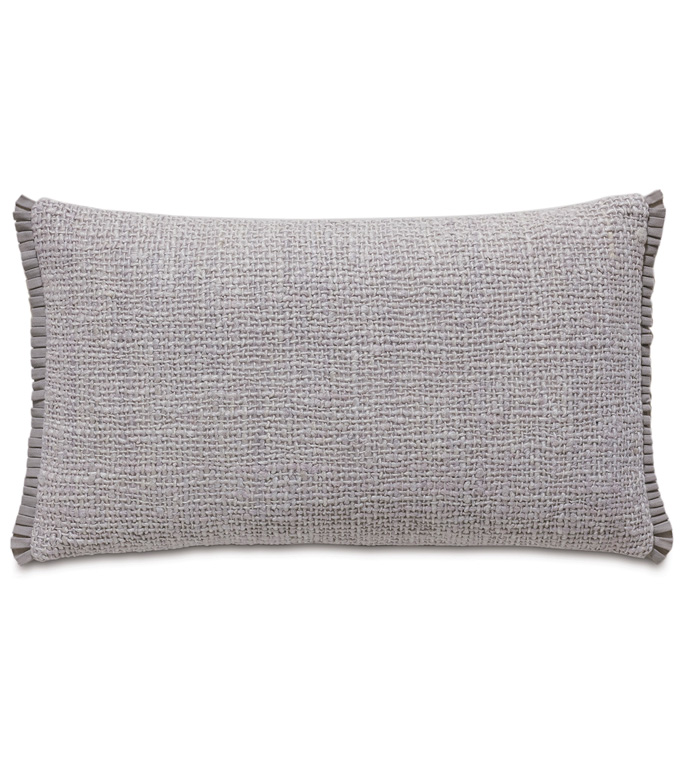 Naomi Solid Accent Pillow In Lilac - ACCENT PILLOW,THROW PILLOW,ACCENT PILLOW,EASTERN ACCENTS,LILAC,GLAM,TEXTURED,SOLID,RIBBON,