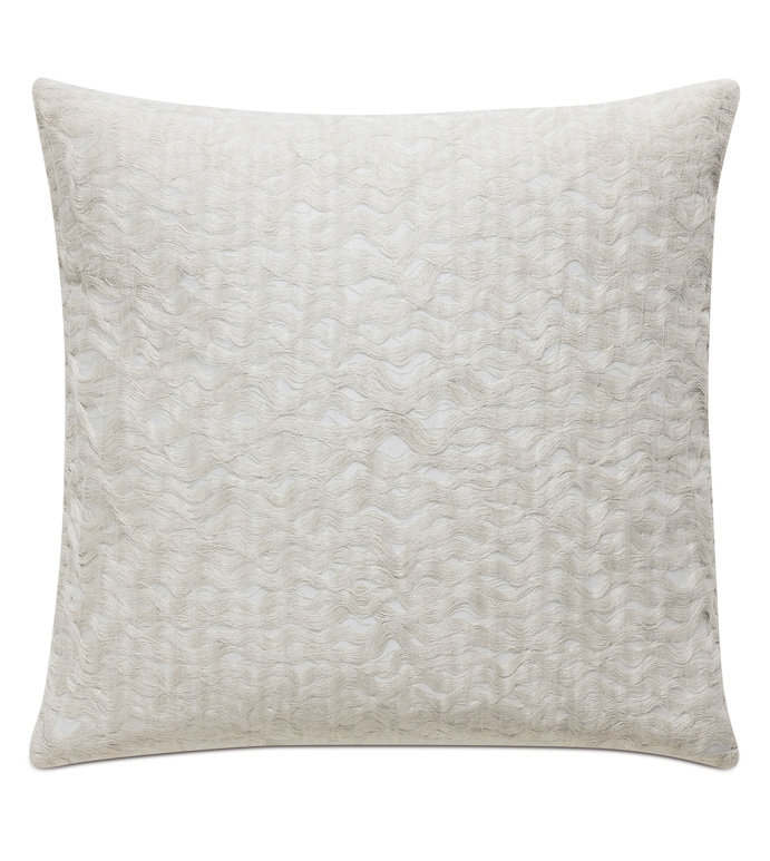 Naomi Textured Accent Pillow In Ivory - ACCENT PILLOW,THROW PILLOW,ACCENT PILLOW,EASTERN ACCENTS,IVORY,GLAM,TEXTURED,SOLID,KNIFE EDGE FINISHING,