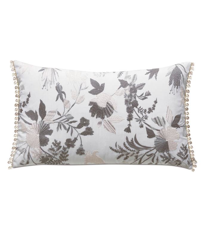 Naomi Beaded Accent Pillow In Lilac - ACCENT PILLOW,THROW PILLOW,ACCENT PILLOW,EASTERN ACCENTS,LILAC,GLAM,EMBROIDERED,FLORAL,BEADED,