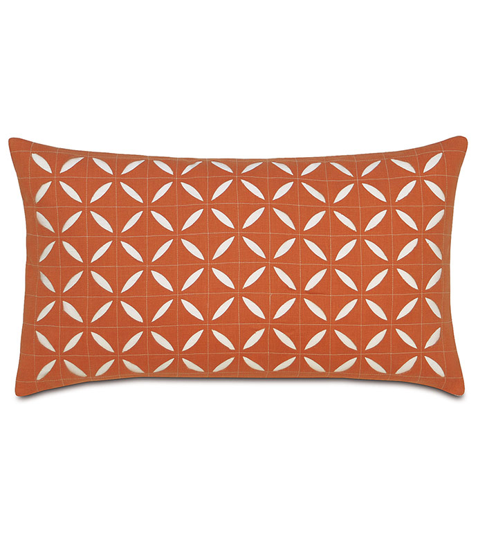 Breeze Tangerine Grid Oblong - ,