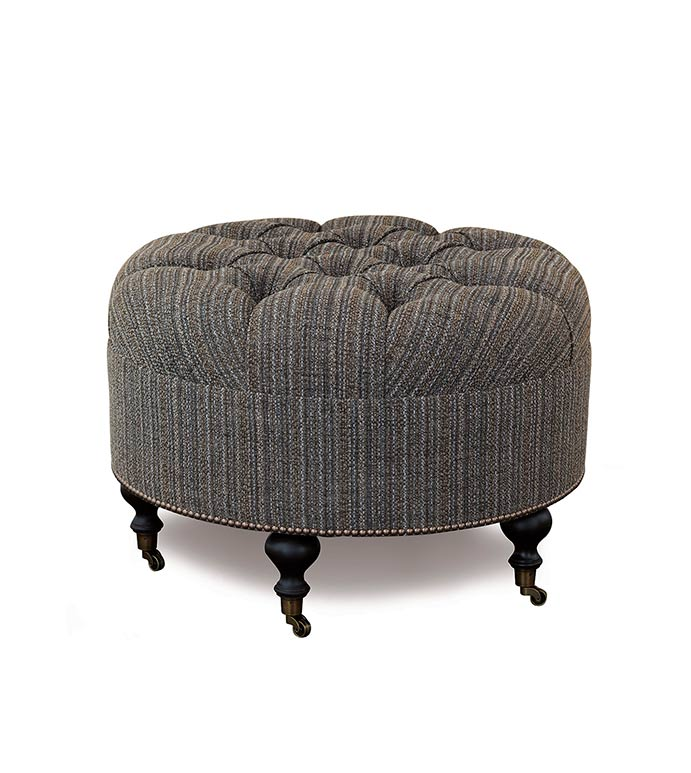 Parton Pebble Round Ottoman