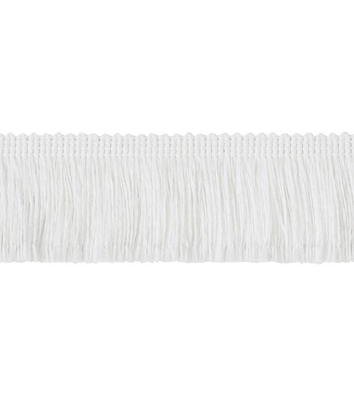 Brush Fringe White - ,2 inch fringe,white fringe,brush fringe,fringe trim,white trim,outdoor trim,outdoor brush fringe,outdoor decor,large fringe trim,wide fringe,luxury trim,buy trim,chicago trim,