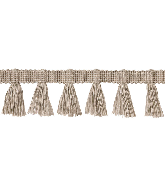 Fringe Linen - ,neutral fringe,casual fringe,fringe trim,brush fringe,outdoor trim,outdoor fringe,neutral trim,trim yardage,fringe yardage,neutral decor,beige fringe,chicago trim,luxury trim,
