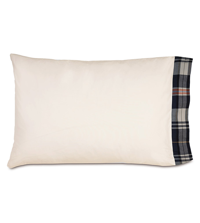 Scout Pillowcase - pillowcase,juvenile pillowcase,sheeting,fine linens,bedding,luxury sheets,high-end sheets,high-quality sheets,200 thread count,percale cases,masculine pillowcases,male pillowcase