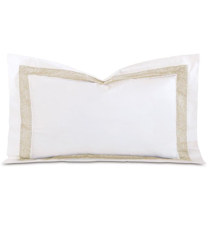 Cornice Lunetta White/Pearl Queen Sham - ,