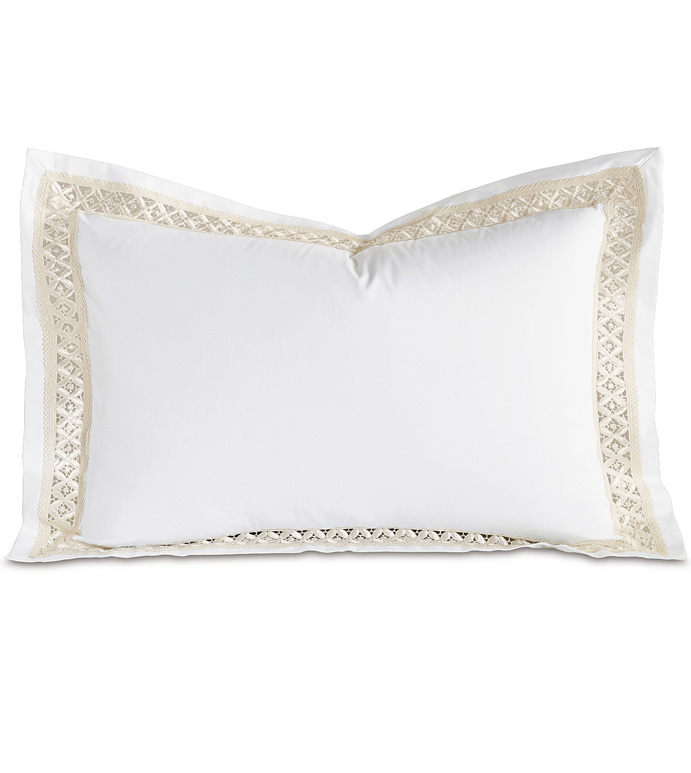 Juliet White/Ivory Queen Sham - ,
