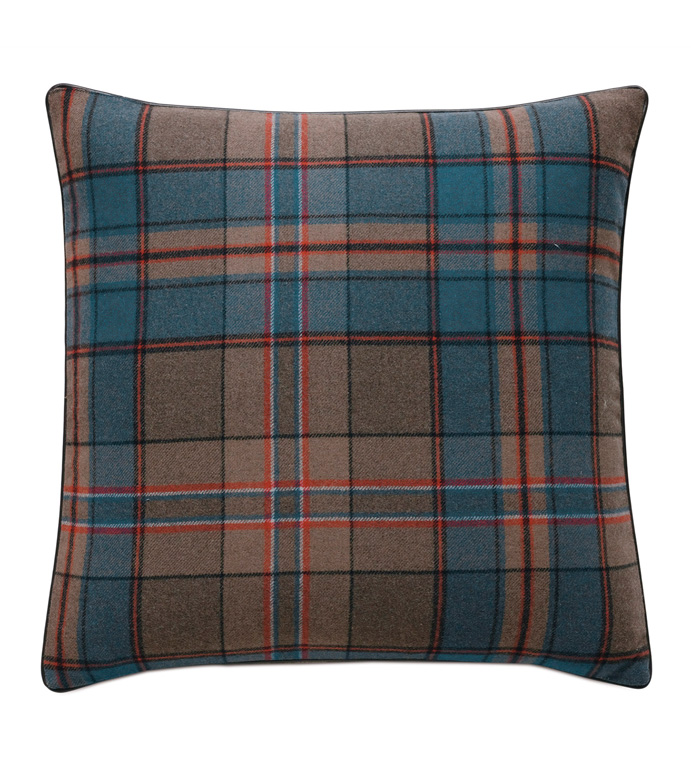 Rudy Plaid Accent Pillow - ACCENT PILLOW,THROW PILLOW,ACCENT PILLOW,EASTERN ACCENTS,JEWEL TONE,LODGE,100% WOOL,PLAID,WELT,