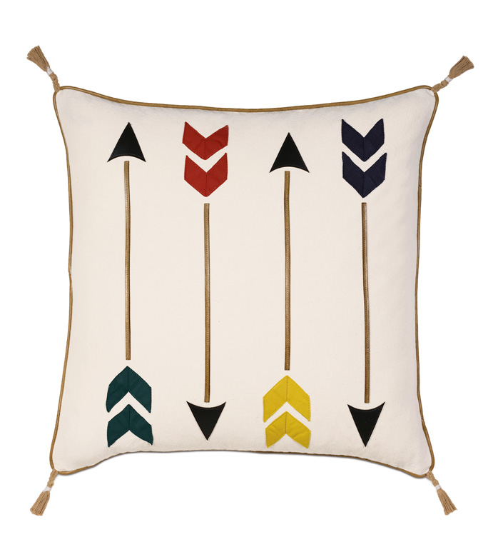Murray Natural With Arrows - PILLOW,ARROW PILLOW,AMERICANA PILLOW,NORTHERN EXPOSURE PILLOW,OUTDOORSY PILLOW,JUVENILE PILLOW,COTTAGE PILLOW,MALE PILLOW,MASCULINE PILLOW,WHIMSICAL PILLOW,ACCENT PILLOW