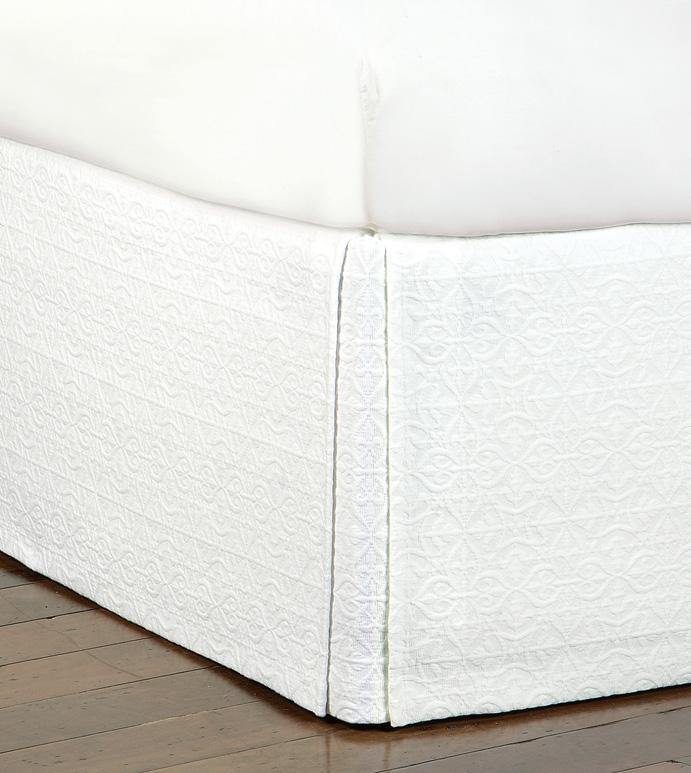 Mea White Bed Skirt