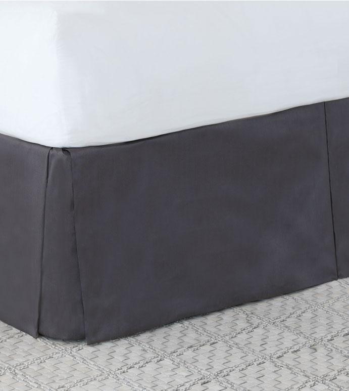 Edris Charcoal Bed Skirt