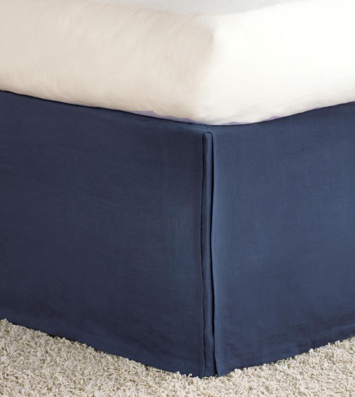 Shiloh Indigo Pleated Bed Skirt