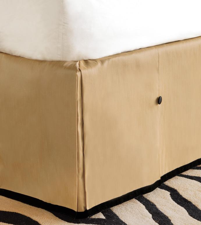 Roxanne Metallic Bed Skirt - BED SKIRT,QUEEN BED SKIRT,GOLD BEDSKIRT,QUEEN DUST RUFFLE,CUSTOM BEDSKIRT,BOXED BED SKIRT,CONTEMPORARY BED SKIRT,LUXURY BEDDING,GLAM BEDDING,HIGH END BEDDING,GLITZ BED SKIRT