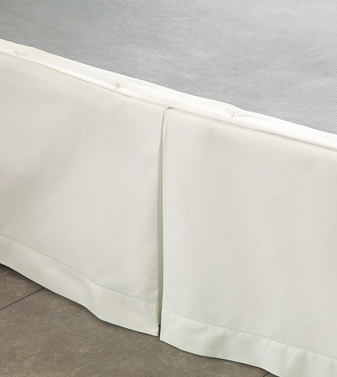 Gianna Ivory Pleated Skirt Panels