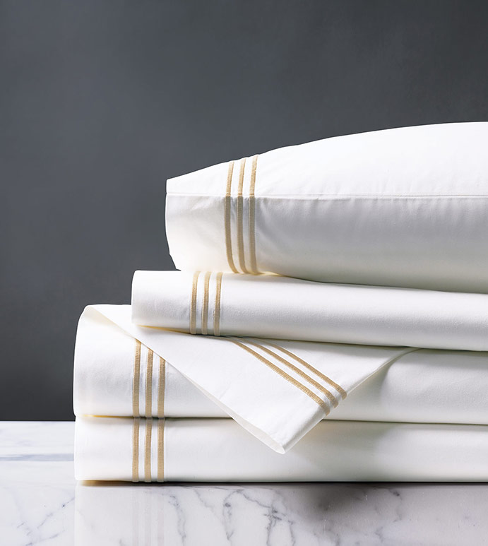 Tessa White/Bisque Sheet Set