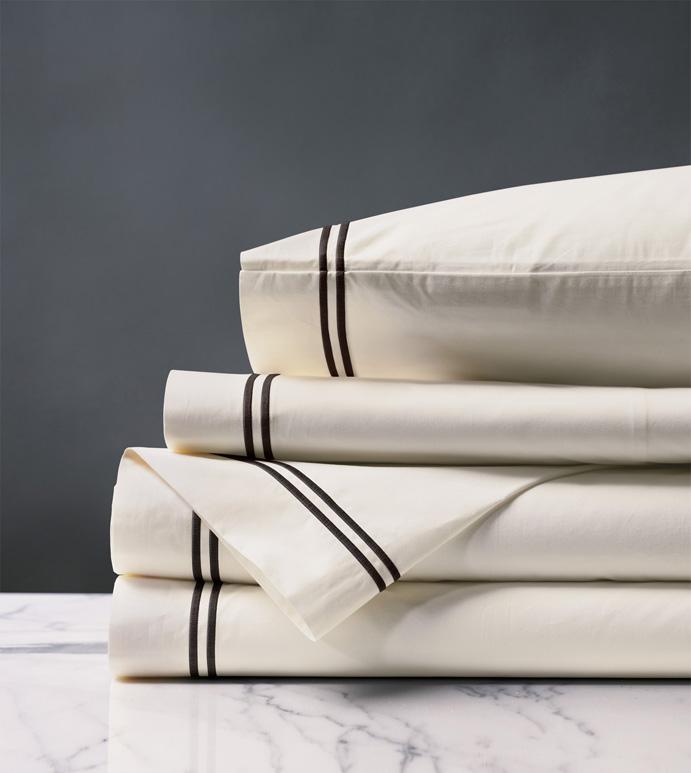 Enzo Ivory/Black Sheet Set
