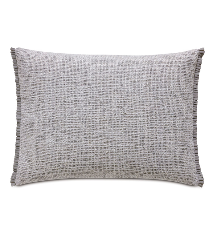 Naomi Solid Standard Sham In Lilac - ACCENT PILLOW,THROW PILLOW,STANDARD SHAM,EASTERN ACCENTS,LILAC,GLAM,WOVEN,SOLID,RIBBON,