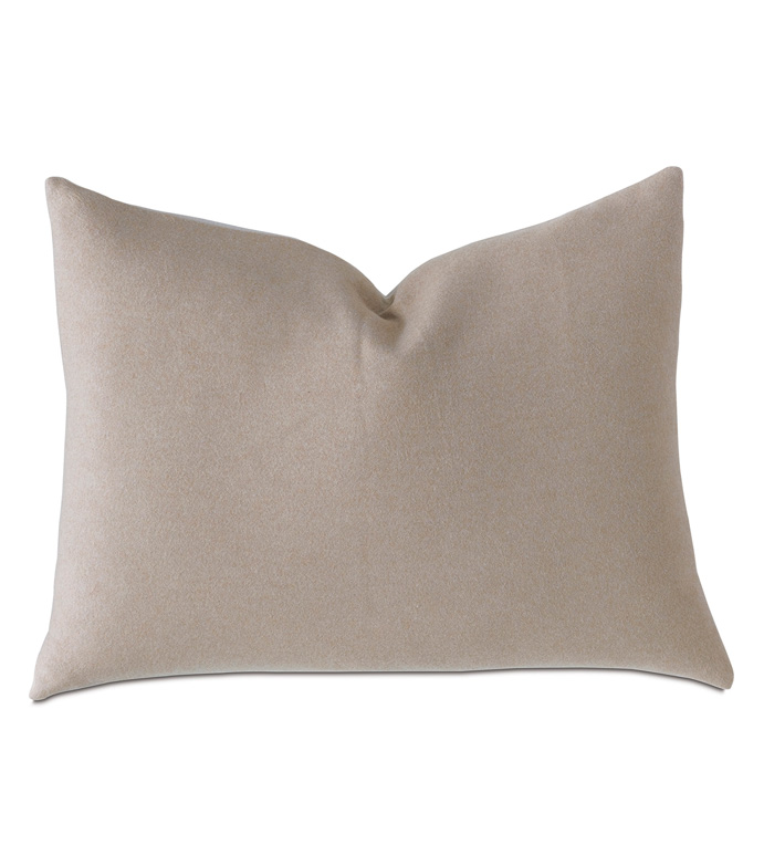 Hansel Flannel Standard Sham In Bisque - DE MEDICI,COTTON,FLANNEL,100% COTTON,COTTON FLANNEL,TAN,BISQUE,BEIGE,NEUTRAL,DECORATIVE PILLOW,PILLOW,THROW PILLOW,ACCENT PILLOW,LUXURY BEDDING,LUXURY