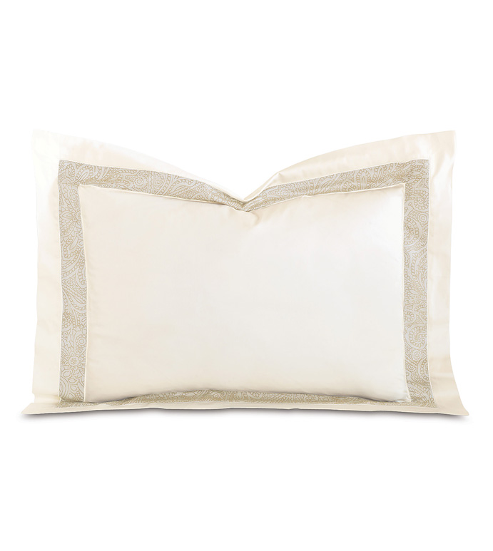 Cornice Ivory/Pearl Standard Sham - ,