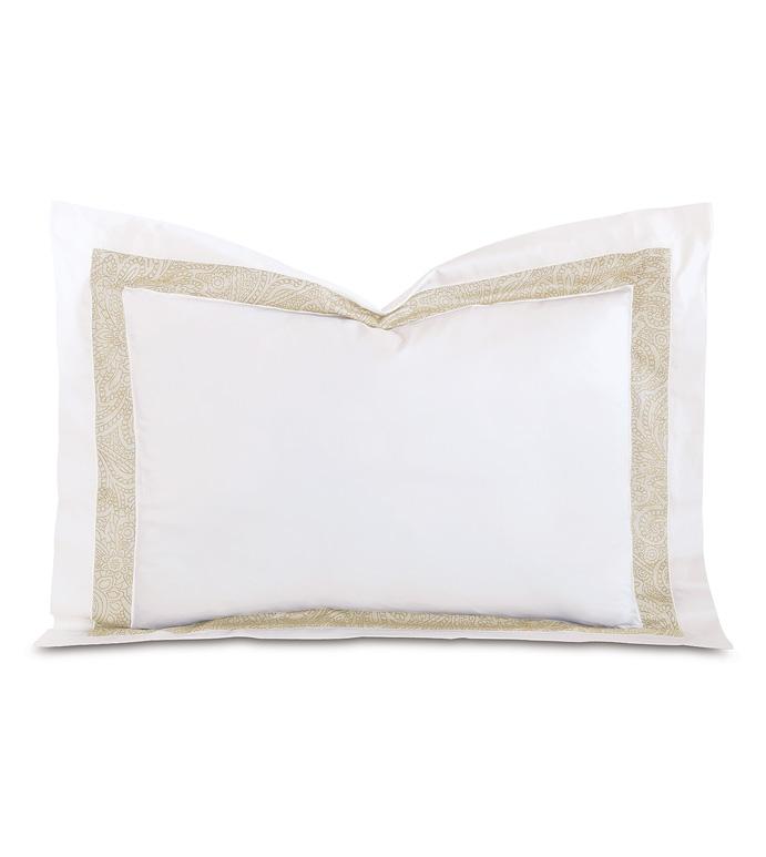 Cornice White/Pearl Standard Sham - ,