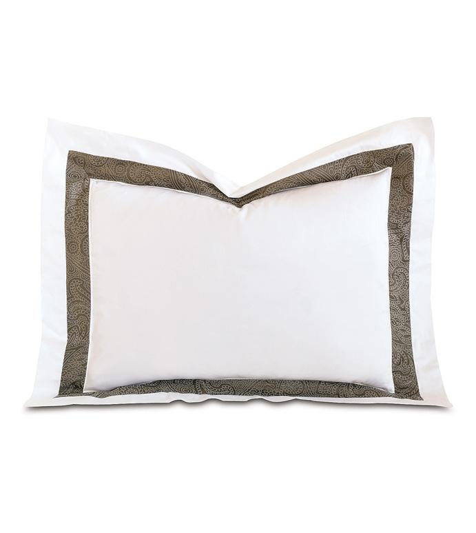 Cornice White/Truffle Standard Sham - ,