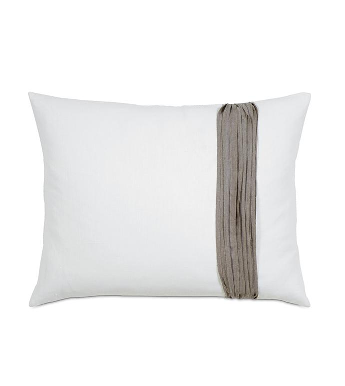 Breeze White Standard Sham Right - ,