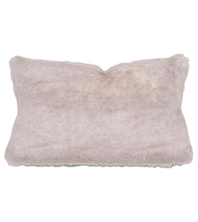 Damien Fox Boudoir - pillow,throw pillow,faux fur pillow,solid pillow,rectangle pillow,decorative pillow,boudoir sham pillow,sham accent pillow,faux animal fur pillow,feather pillow,zip closure pillow